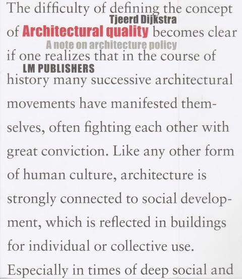 Architectural Quality
