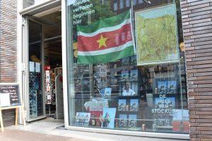 Etalage boekhandel De Vries Van Stockum in Den Haag